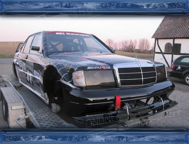 Mercedes 190E W201 Evo 2 Style Wide Body Kit Black