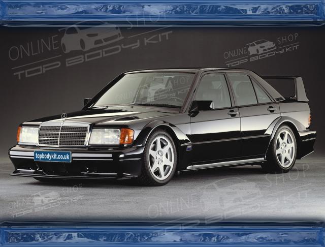 Mercedes 190E W201 Evo 2 Style Wide Body Kit Black